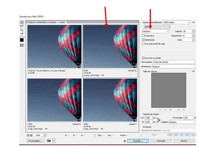 reducir fotos con photoshop