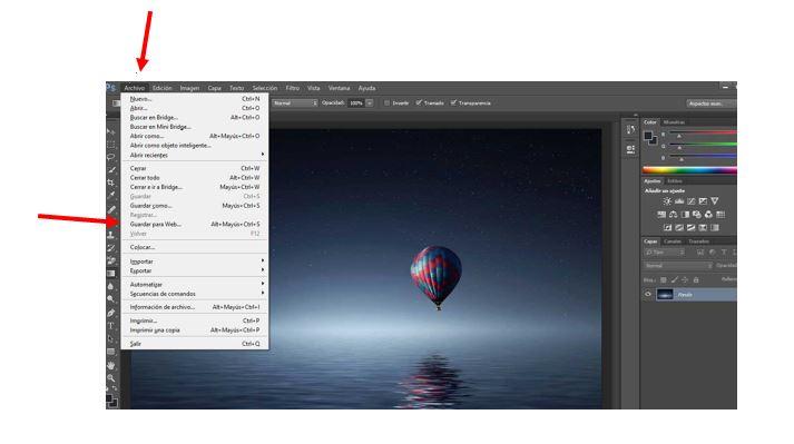 reducir fotos para web