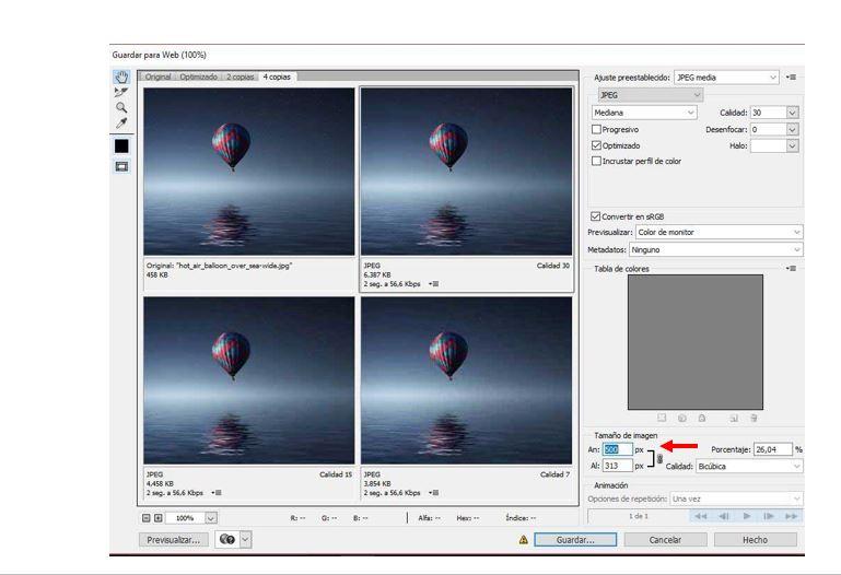 reducir fotos sin perdida de calidad