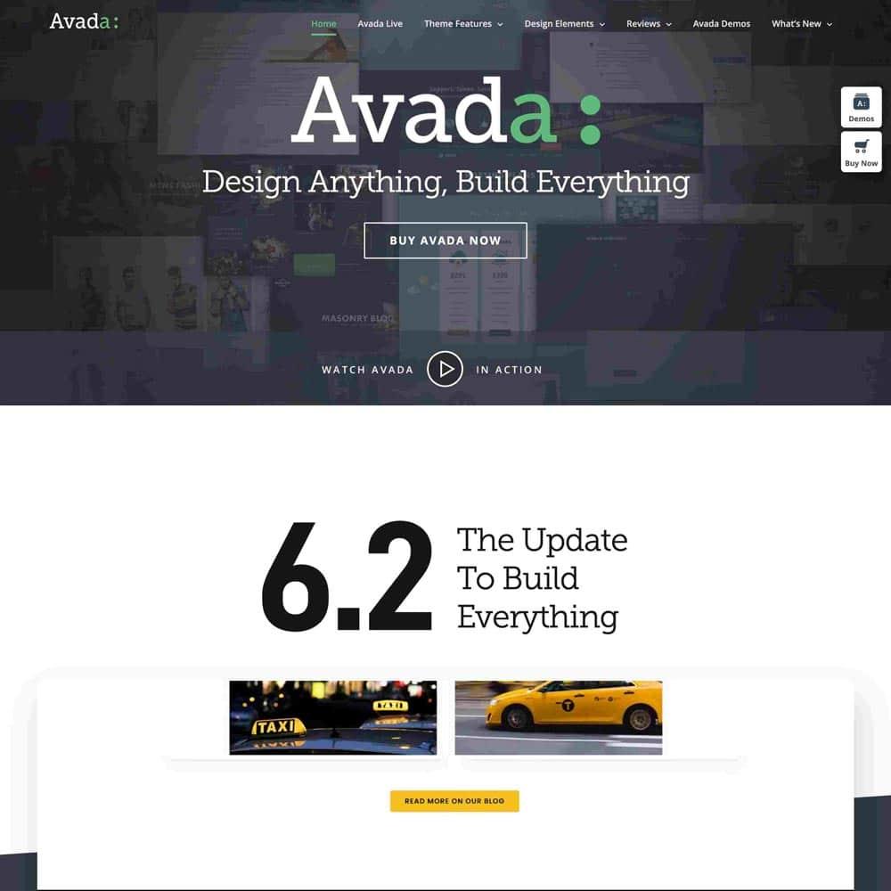 Avada Theme la plantilla más vendida de themeforest 1