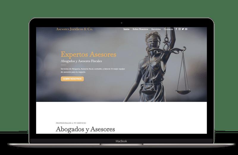 precios páginas web para asesorias y abogados